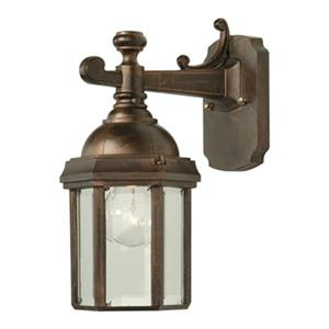 SNOC Vintage l 12.62-in Antique Copper Wall Mounted Outdoor Sconce