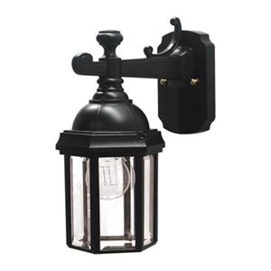 SNOC Vintage l 12.62-in Black Wall Mounted Outdoor Sconce