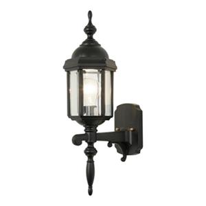 SNOC Vintage l 20.5-in Black Wall Mounted Outdoor Sconce