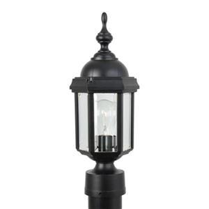 SNOC Vintage I 15.62-in Black Post Mount Outdoor Light
