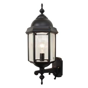 SNOC Vintage l 23-in Black Wall Mounted Outdoor Light