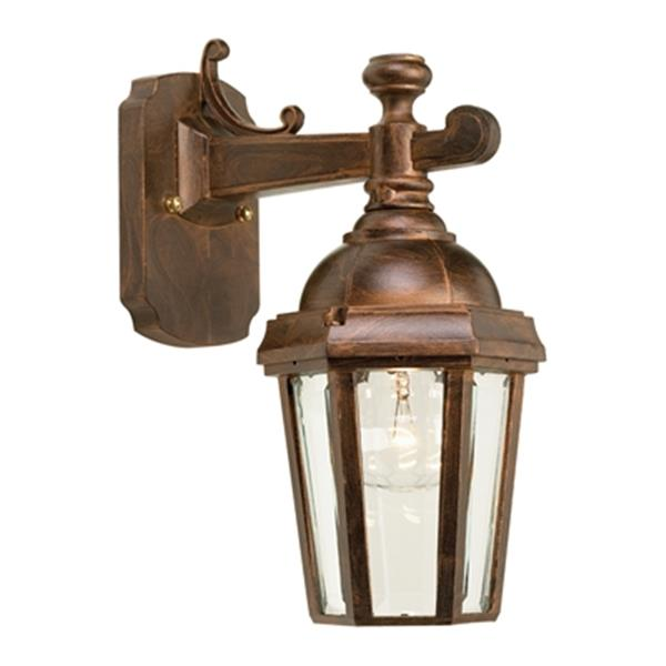 SNOC Vintage ll 12.62-in Antique Copper Wall Mounted Outdoor Sconce