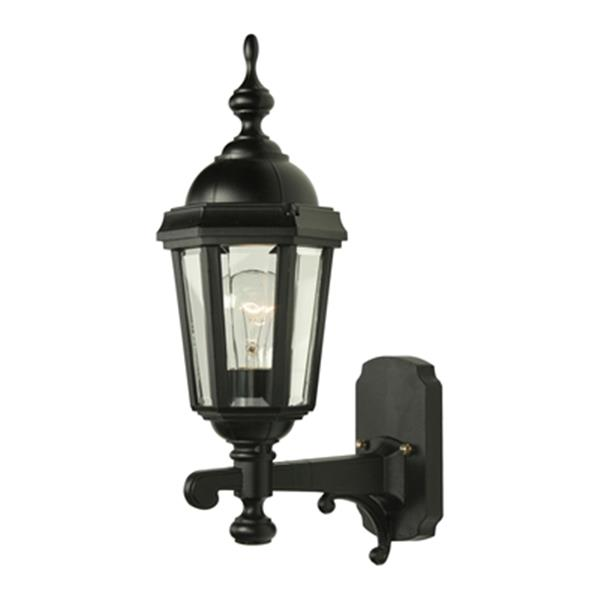 SNOC Vintage ll 16.88-in Black Wall Mounted Outdoor Sconce