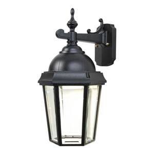 SNOC Vintage ll 17.88-in Black Dimmable LED Outdoor Wall Mounted Sconce