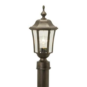 SNOC Vision 16-in Antique Copper Post Mount Outdoor Light