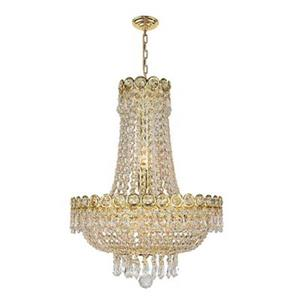 Worldwide Lighting Versailles Gold 8-Light Crystal Chandelier