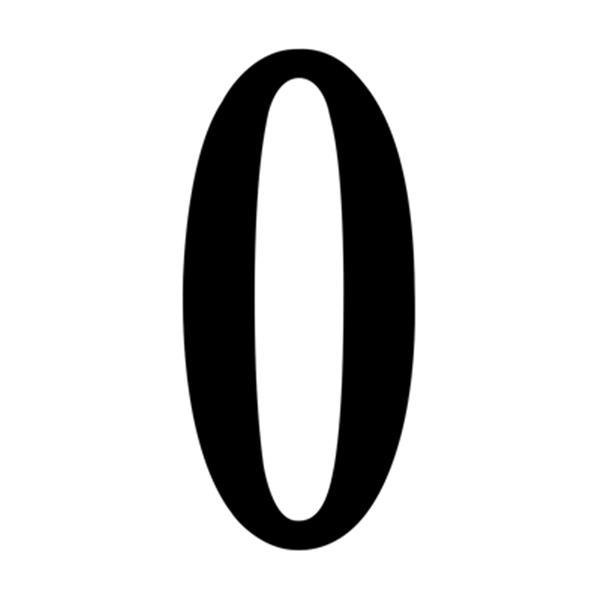 SNOC Essentials Accessories Black Self-Adhesive Digits House Numbers
