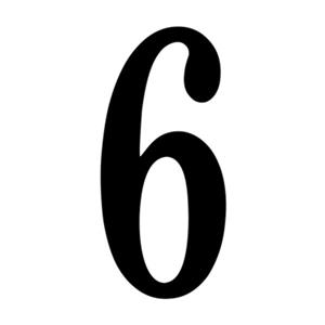 SNOC Essentials Accessories Black Self-Adhesive Digits House Numbers