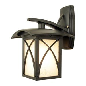 SNOC Luxia 14.62-in Black Downward Mounted White Glass Wall Luminaire