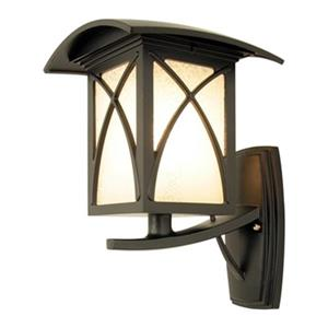 SNOC Luxia 14.62-in Black Upward Mounted White Glass Wall Luminaire