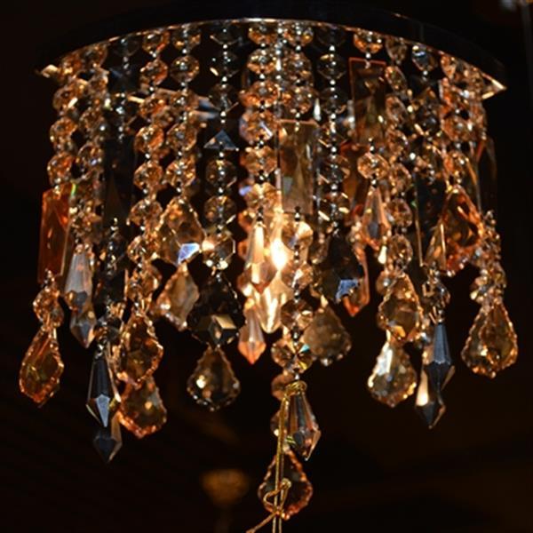 Worldwide Lighting Fiona Polished Chrome Colorful Crystal Oval Pendant Light