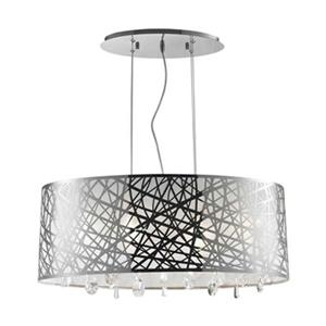 Worldwide Lighting Julie 6-Light Oval Crystal Drum Chandelie