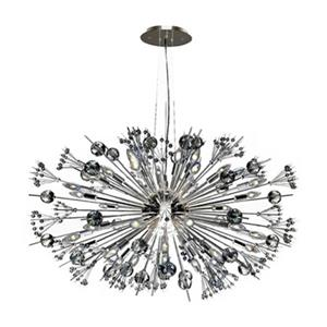Worldwide Lighting Starburst Polished Chrome Sputnik Large Crystal Chandelier