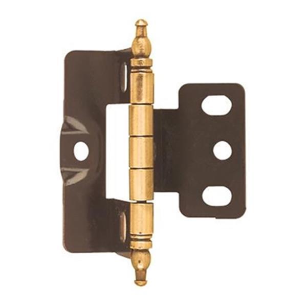 Amerock 3/4-in Antique Brass Door Thickness Full Inset Hinge