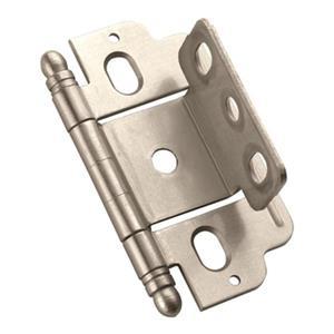 Amerock 3/4-in Satin Nickel Door Thickness Full Inset Hinge