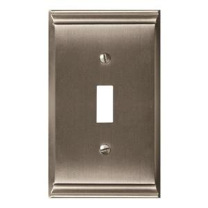 Amerock Canada Candler Satin Nickel 1-Toggle Wall Plate
