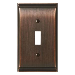 Amerock Canada Candler Oil Rubbed Bronze 1-Toggle Wall Plate