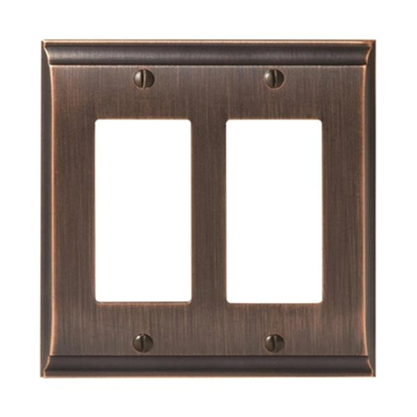 Candler 2-Rocker Wall Plate - Metal - Oil Rubbed Bronze