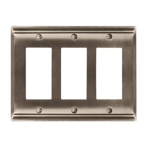 Amerock Canada Candler Satin Nickel 3-Rocker Wall Plate