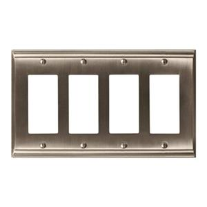 Amerock Canada Candler Satin Nickel 4-Rocker Wall Plate