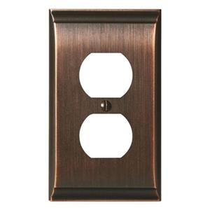 Amerock Canada Candler Oil Rubbed Bronze Receptacle Wall Plate