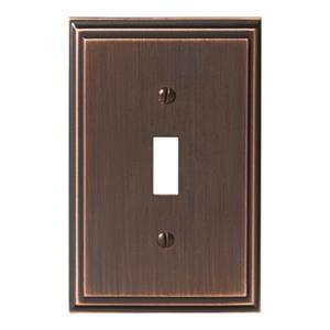 Amerock Canada Mulholland Oil Rubbed Bronze 1-Toggle Wall Plate