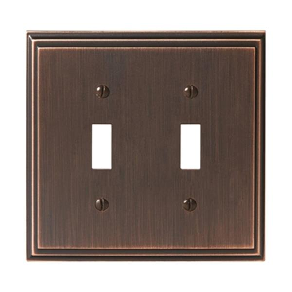 Mulholland 2-Toggle Wall Plate - Metal - Oil Rubbed Bronze