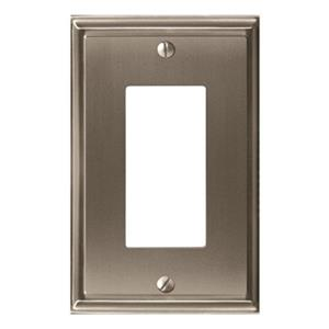 Amerock Canada Mulholland Satin Nickel 1-Rocker Wall PLate