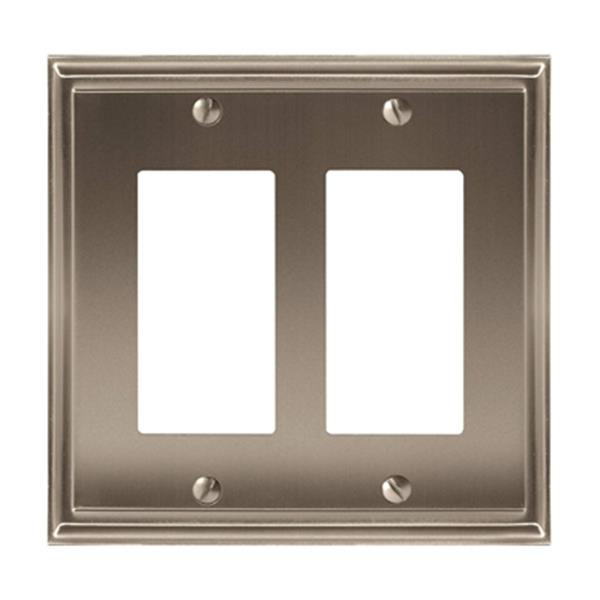 Mulholland 2-Rocker Wall Plate - Metal - Satin Nickel