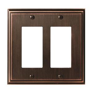 Amerock Canada Mulholland Oil Rubbed Bronze 2-Rocker Wall Plate
