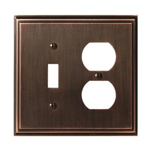 Amerock Canada Mulholland Oil Rubbed Bronze 1-Togle/1-Receptacle Wall Plate