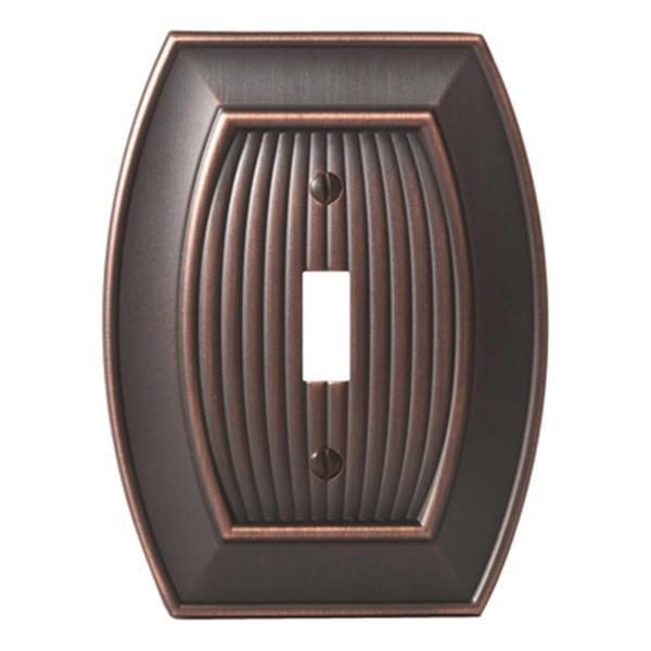 Plaque simple pour interrupteur Sea Grass, métal, bronze