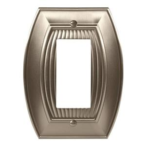 Amerock Canada Sea Grass Satin Nickel 1-Rocker Wall Plate