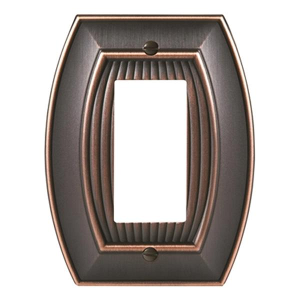 Sea Grass 1-Rocker Wall Plate - Metal - Oil Rubbed Bronze