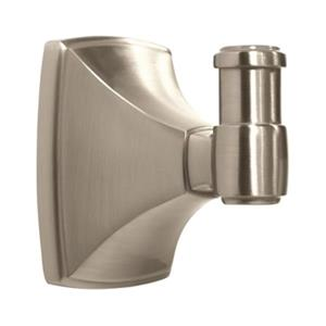 Amerock Clarendon Satin Nickel Single Robe Hook