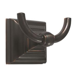 Amerock Markham Oil Rubbed Bronze Double Prong Robe Hook