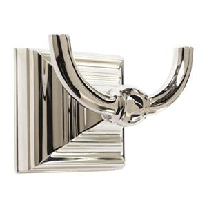 Amerock Markham Polished Nickel Double Prong Hook