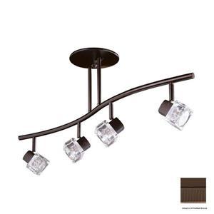 Kendal Lighting 4 Light 32.5-in Oil-Rubbed Bronze Glass Pendant Linear Track Lighting Kit