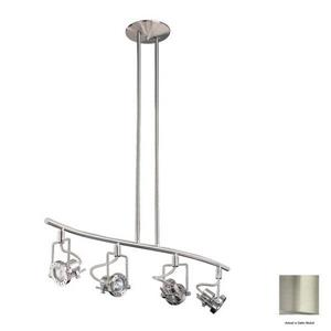 Kendal Lighting 4 Light 32.5-in Satin Nickel Gimbal Linear Track Lighting Kit