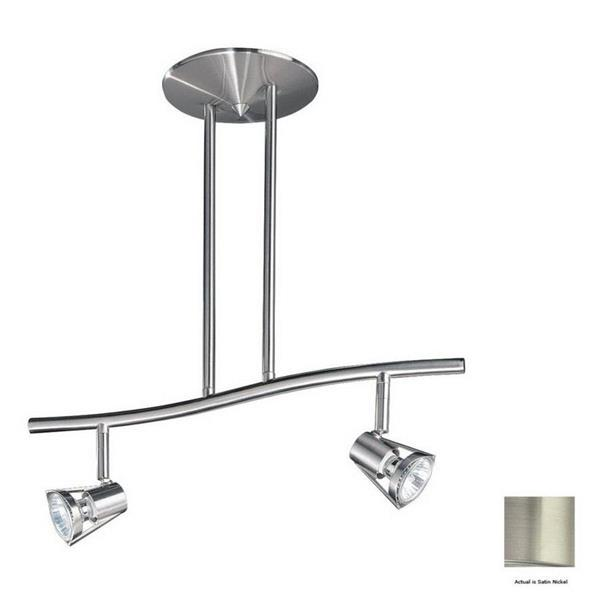 Kendal Lighting 2 Light 18.5-in Satin Nickel Step Linear Track Lighting Kit
