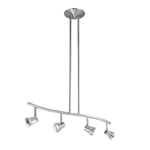 Kendal Lighting 4 Light 32.5-in Satin Nickel Step Linear Track Lighting Kit