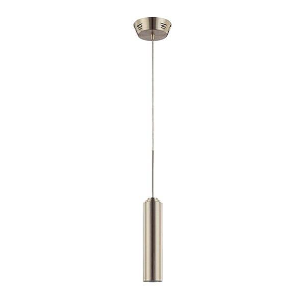 Kendal Lighting 2.50-in Satin Nickel Modern Clear Glass Cylinder 1-Light Pendant