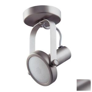 Kendal Lighting 4-in Brushed Steel 1-Light Flush Mount Fixed Track Light Kit