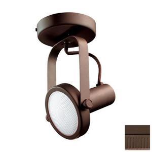 Kendal Lighting 4-in Oil-Rubbed Bronze 1-Light Dimmable Standard Flush Mount Fixed Track Light Kit