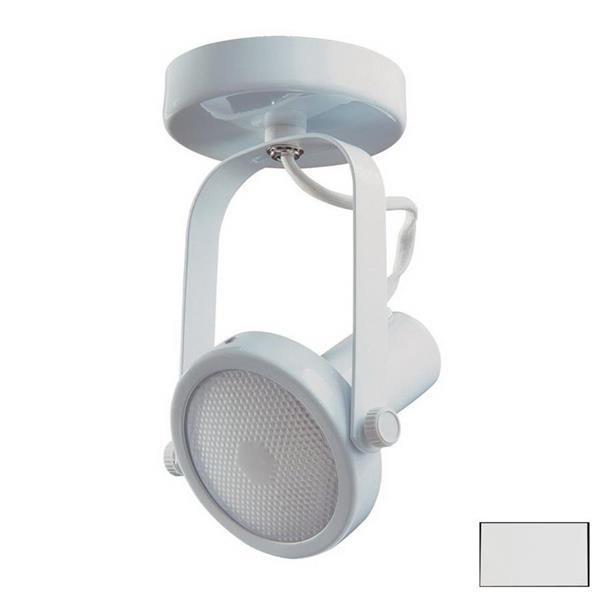 Kendal Lighting 4-in White 1-Light Flush Mount Fixed Track Light Kit