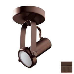 Kendal Lighting 5-in Oil-Rubbed Bronze 1-Light Dimmable Standard Flush Mount Fixed Track Light Kit