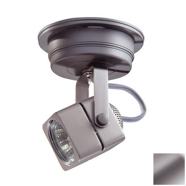 Kendal Lighting 5-in Brushed Steel 1-Light Flush-Mount Fixed Track Light Kit