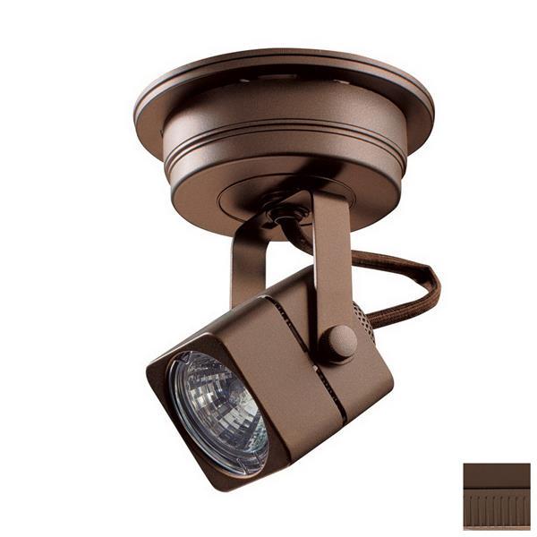 Kendal Lighting 5-in Oil-Rubbed Bronze 1-Light Flush-Mount Fixed Track Light Kit