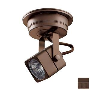 Kendal Lighting 5-in Oil-Rubbed Bronze 1-Light Flush-Mount Fixed Track Light Kit