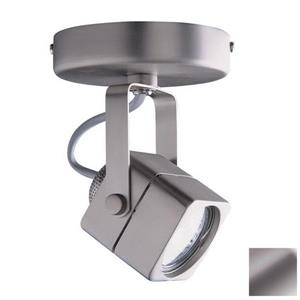 Kendal Lighting Brushed 5-in Steel 1-Light Flush Mount Fixed Track Light Kit